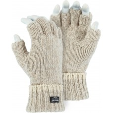 3424 Fingerless Winter Lined Ragwool Glove
