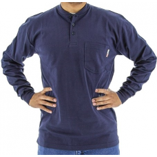 95640N BlazeTex Fire Resistant Knit Long Sleeve Shirt – Navy