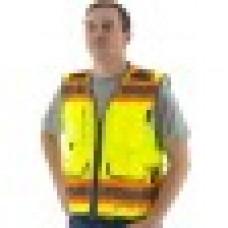 Yellow Two-Tone Heavy Duty Class 2 Surveyor's Vest