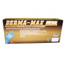 DERMA-MAX POWDER FREE NITRILE EXAM GRADE GLOVES