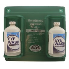 Eyewash Station (Bottle Type) w Two 16 oz. Eye Irrigate Solution
