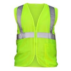 Class 2 Flame Retardant Hi-Viz Safety Vest- Yellow
