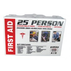 25 Person First Aid Kit Metal Box