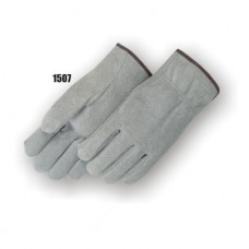 Shoulder Split Cowhide, Straight Thumb, Shirred Back, Gray
