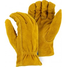 1513T Winter Lined Split Cowhide Drivers Glove with Double Stitching