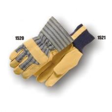 Grain Pigskin Palm, Knuckle Strap, Gauntlet Cuff, Polyester Fiber Lined
