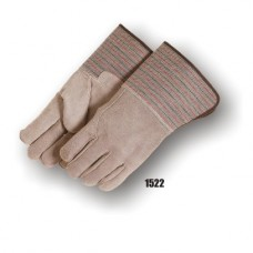 Split Cowhide Palm And Back, Wing Thumb, Rubberized Gauntlet Cuff