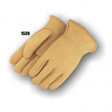 A-grade Gemsbok drivers glove, keysthone thumb, leather rolled hem