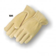 A grade deerskin driver's glove, Keystone thumb, Leather rolled hem.