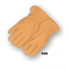 Deerskin Drivers glove, Keystone thumb, B grade leather, leather rolled hem.