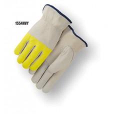 Driver, goatskin, keystone thumb, high visibility yellow