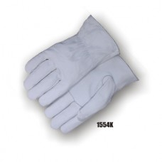 A Grade Goatskin, Inseam Index Finger, Keystone Thumb, Rolled Hem, Shirred Back
