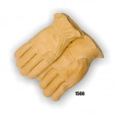 A Grade Grain Goatskin, Palm Reinforcement, Index Finger, Keystone Thumb, Shirred Back Goatskin, Straight thumb