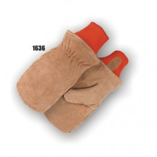 Freezer mitten with extra-thick 200 gram Thinsulate insulation lining, knit wrist.