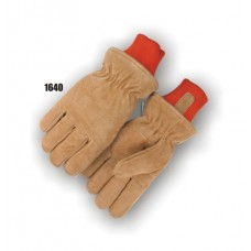 Freezer glove with extra-thick 200 gram Thinsulate insulation lining, sewn-in knit wrist.