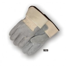 Split Cowhide Palm & 3/4 Back, Wing Thumb, Rubberized Safety Cuff, Kevlar Sewn