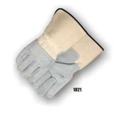 Split Cowhide Palm & 3/4 Back, Wing Thumb, Rubberized Cuff, Kevlar Sewn
