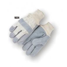 Split Cowhide Palm, Knuckle Strap, Wing Thumb, Knit Wrist, Kevlar Sewn