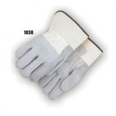 Split Cowhide Int Dbl Palm, Fingers & 3/4 Back, Wing Thumb, Rubberized Safety Cuff, Kevlar Sewn