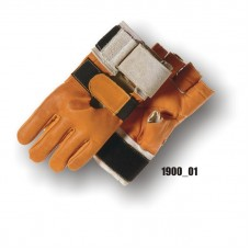 Grain Cowhide, Fingerless With Padded Palm, Velcro Wrist Support