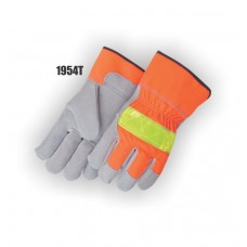 Work Glove, Split, Thinsulate Lined, High Visibility