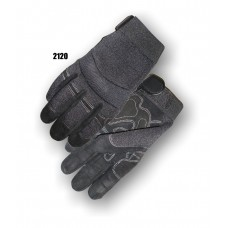 A Grade Black Reversed Calf Skin, Black Knit Back For Comfort, Anti Vibration Palm Patches