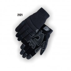 Synthetic Leather Palm with Re-enforced Silicon Palm Padding, Neoprene Knuckle and Velcro Wrist Closure