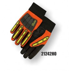 X10 Knucklehead Synthetic Leather Palm, Elastic Wrist, High Visibility Orange