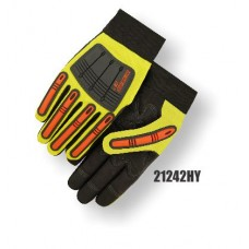 X10 Knucklehead Synthetic Leather Palm, Elastic Wrist, High Visibility Yellow.