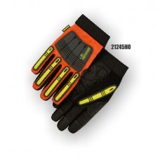 X10 Knucklehead Synthetic Leather Palm, Elastic Wrist, Kevlar Lining, High Visibility Orange.