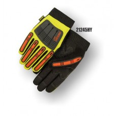 X10 Knucklehead Synthetic Leather Palm, Elastic Wrist, Kevlar Lining, High Visibility Yellow.