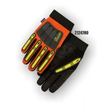 X10 Knucklehead Synthetic Leather Palm, Elastic Wrist, Thinsulate Lined, Water Proof, High Visibility Orange.