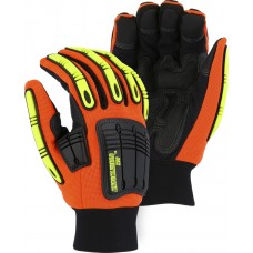 21247HO Winter-lined X10 Knucklehead Synthetic Leather Mechanics Glove with Impact Protection