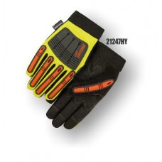 X10 Knucklehead Synthetic Leather Palm, Elastic Wrist, Thinsulate Lined, Water Proof, High Visibility Yellow.