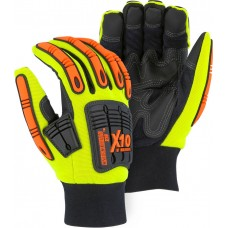 21247HY Winter-lined X10 Knucklehead Synthetic Leather Mechanics Glove with Impact Protection