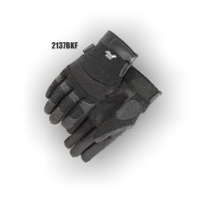 Armor Skin Synthetic Leather, Stretch back, Velcro Closure, Fleece Lining Black