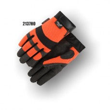 Armorskin Synthetic Palm, High Visibility, Orange Back, Velcro Orange