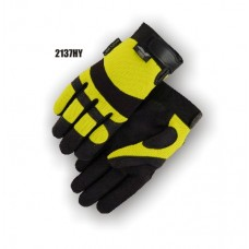 Synthetic Palm, High Visibility, Yellow Back, Velcro Yellow