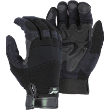 Synthetic Double Palm, Knit Back, Velcro Black