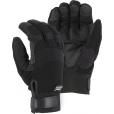 2139BKH Winter Lined Armor Skin Mechanics Glove with PVC Double Palm and Knit Back