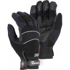2145BKH Winter-Lined Synthetic Leather Black Mechanics Glove