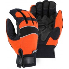 2145HOH Winter-Lined Synthetic Leather High Visibility Mechanics Glove