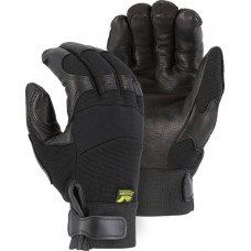 2151H Winter Lined Black Hawk Mechanics Glove with Deerskin Palm and Knit Back