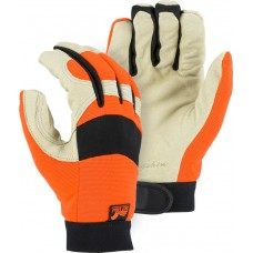 2152THV Winter Lined Bald Eagle Mechanics Glove with Pigskin Palm and High Vis Knit Back
