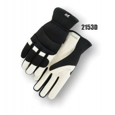 White Eagle Mechanics Slip-on Style Glove with Grain Goatskin Palm and Knit Back