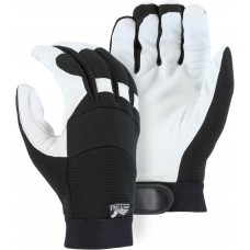 2153T Winter Lined White Eagle Mechanics Glove With Grain Goatskin Palm And Knit Back