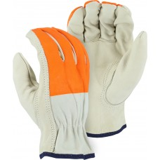 B-Grade Cowhide Drivers, HiVis Orange Painted Fingers, Keystone Thumb