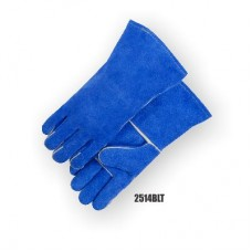 Select Shoulder Split Cowhide, Wing Thumb, Thumb strap, Blue