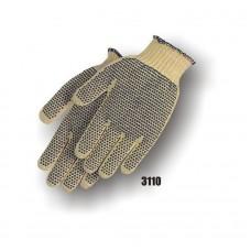 Kevlar Knit, Pvc Dots Both Sides, Knit Wrist, Medium Weight, Yellow