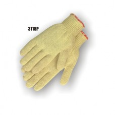 Kevlar Cotton Plated Knit, Knit Wrist, Medium Weight, Yellow Weight, 24 Inch, Thumb Hole